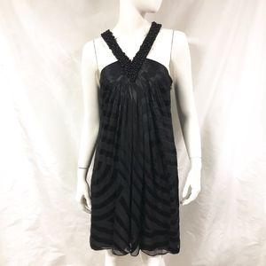 CATHERINE MALANDRINO Silk Burnout Halter Dress
